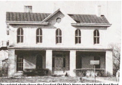 The Crawford Home that was demolished to make room for the College Hill Library and Pleasant Hill Academy