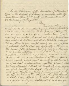 Scott letter on slavery