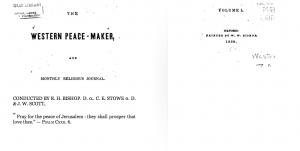 Western Peace-Maker 1839