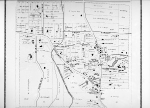 Map of Farmers' College in College hill 1860's