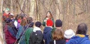 kathy leading a tour of the Ravine