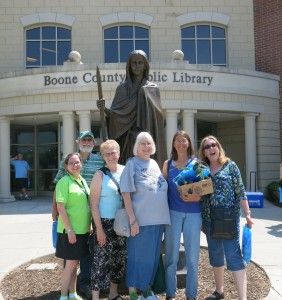 The History Ladies with LEn Webb and Bridget Striker, Local History Librarian at the Boone County Library